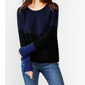 GAP Mohair Blend Color Block Sweater